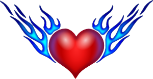 free vector Burning Heart clip art