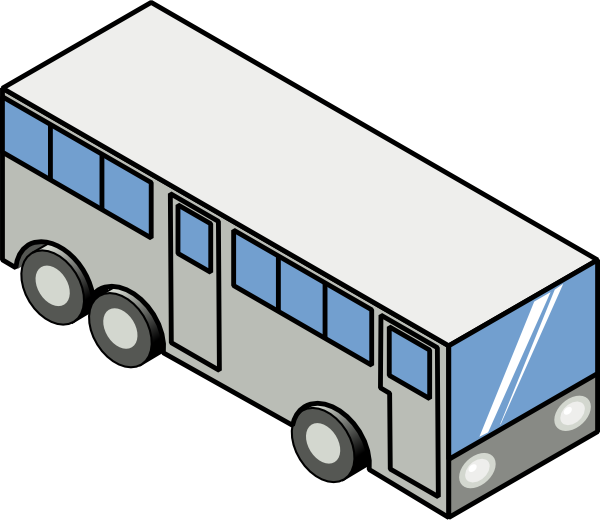 free vector Bus Isometric Icon clip art