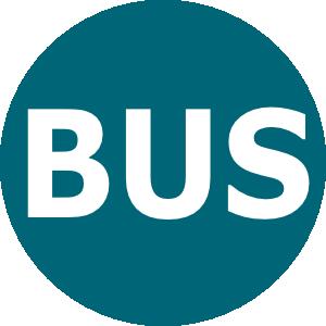 free vector Bus Logo Blau clip art