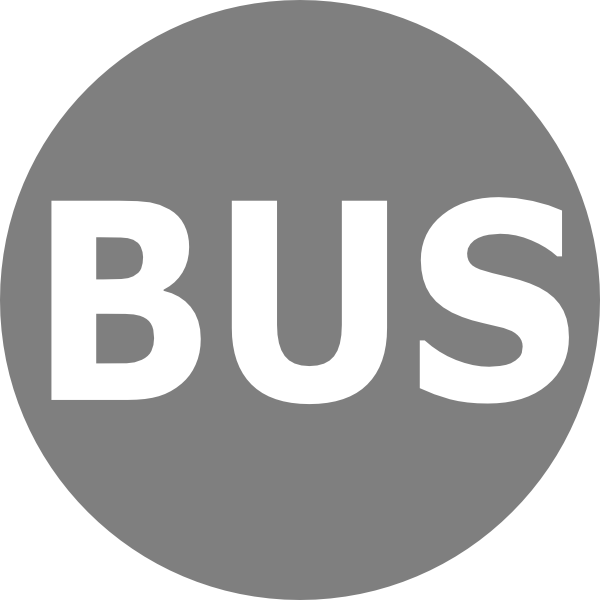 free vector Bus Logo Grau clip art