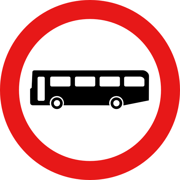 free vector Bus Road Sign clip art