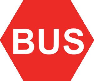 free vector Bus Sign clip art