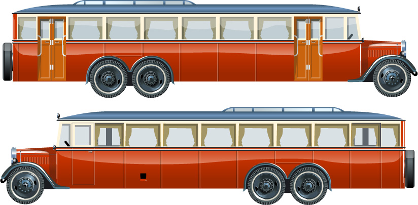 free vector Buses vector
