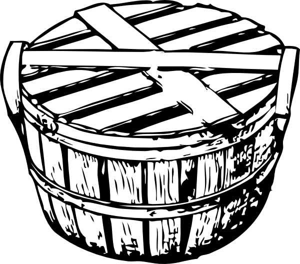 free vector Bushel Basket With Cover clip art