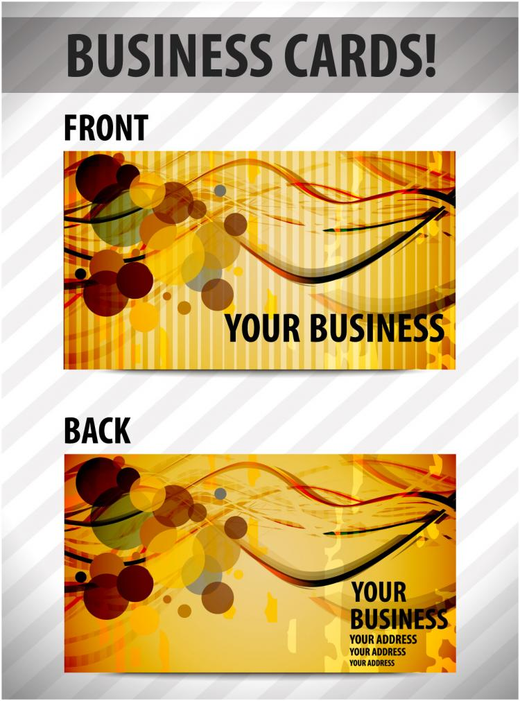 business card template 01 vector free vector 4vector