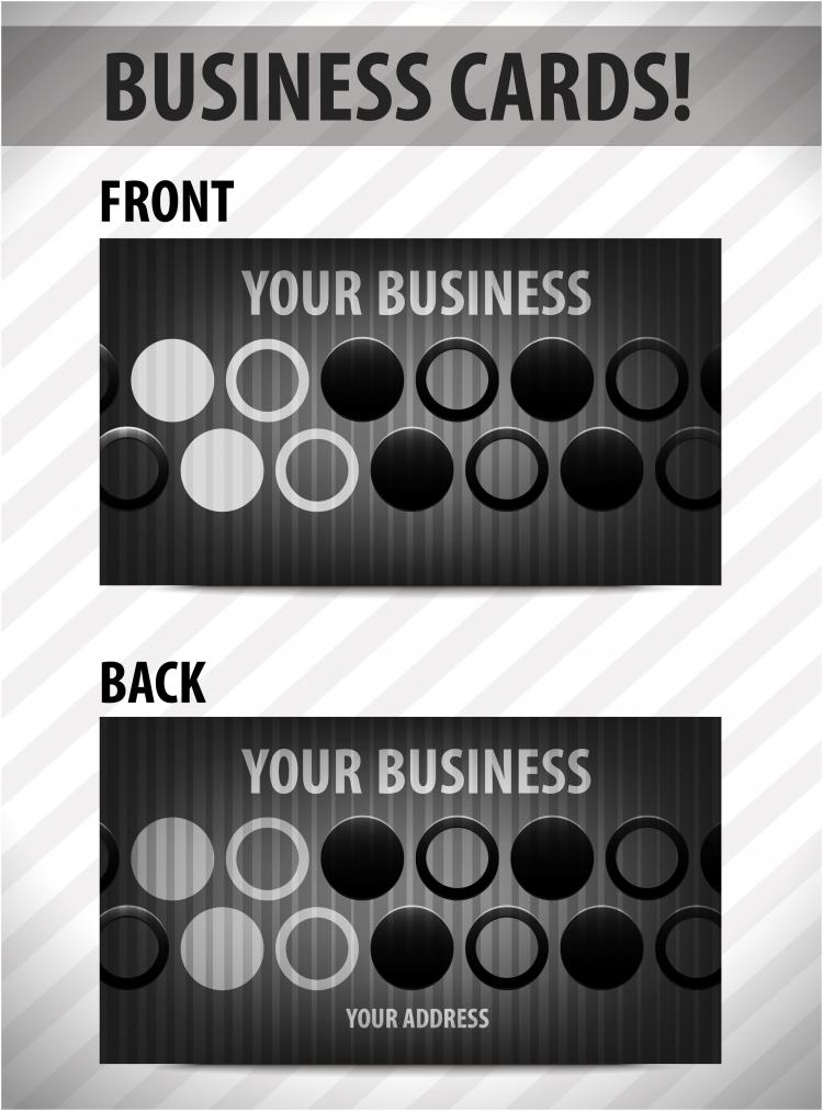 business card template 02 vector free vector 4vector