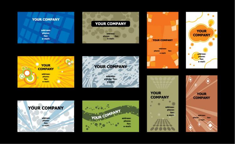 free vector Business card template vector