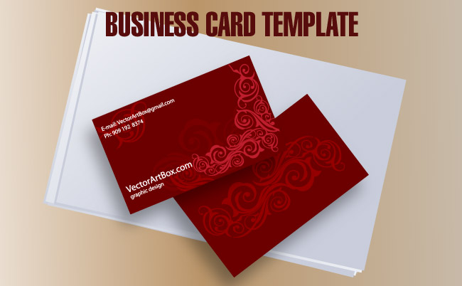 Business card template free vector 4vector free vector business card template flashek Gallery