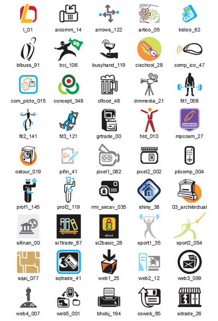 free vector Business Icons Vector Samples