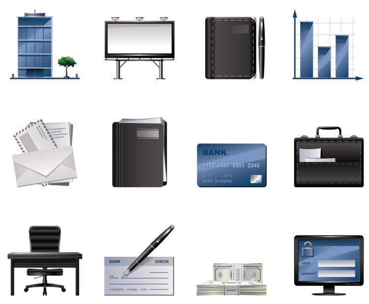 free vector Business icons vector
