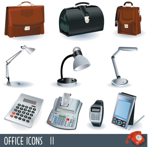 free vector Business office icon vector