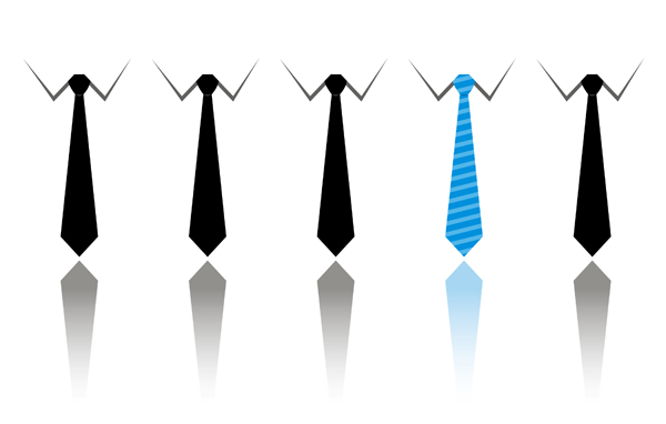free vector Business people and tie vector material