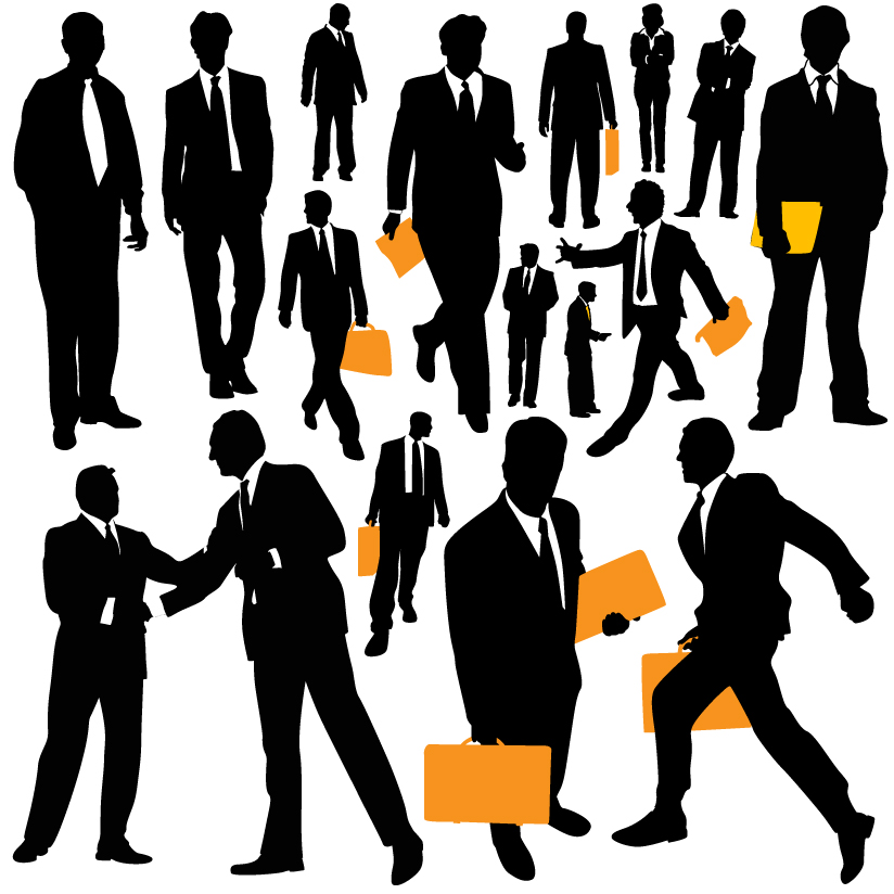 free vector Business people silhouette vector