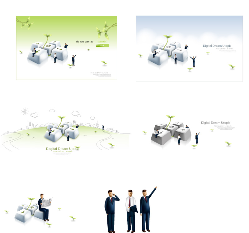 free vector Business people vector illustration