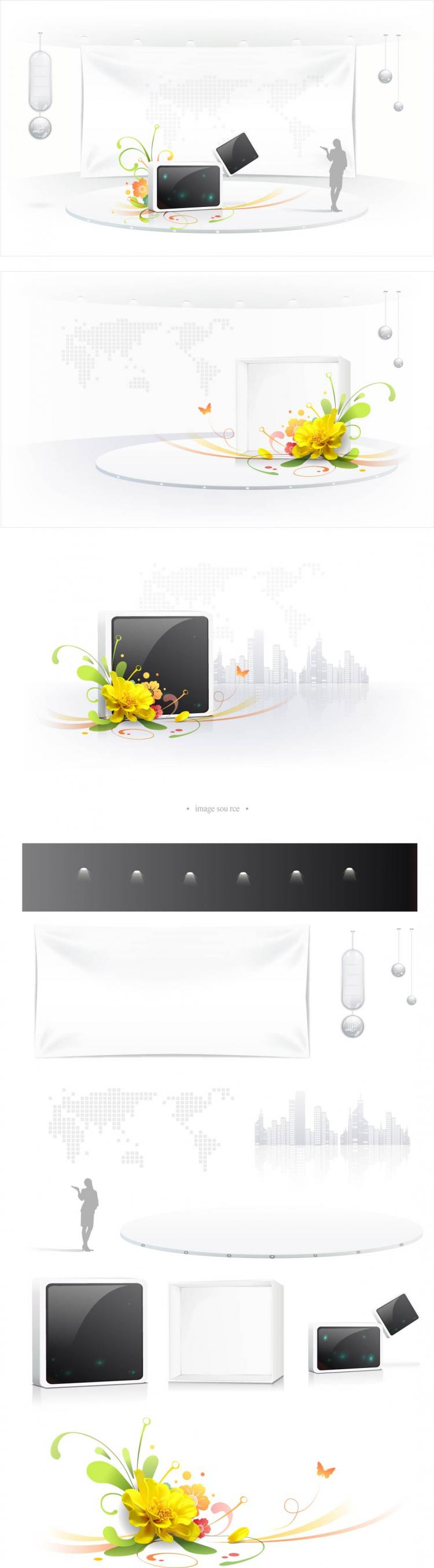 free vector Business space vector