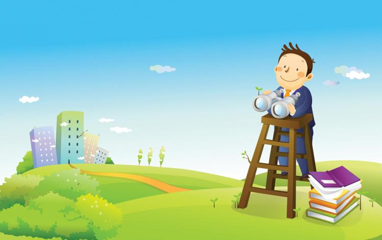 free vector Business Vision Cartoon