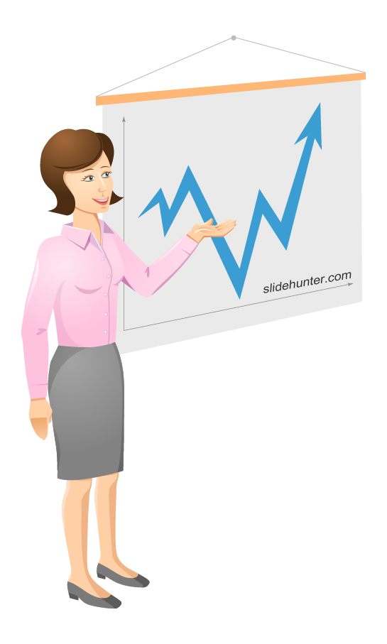 free vector Business Woman Vector Presentation