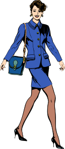 free vector Bussiness Woman clip art