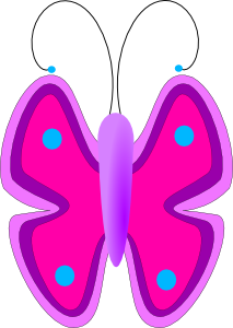 free vector Butterfly clip art 107801