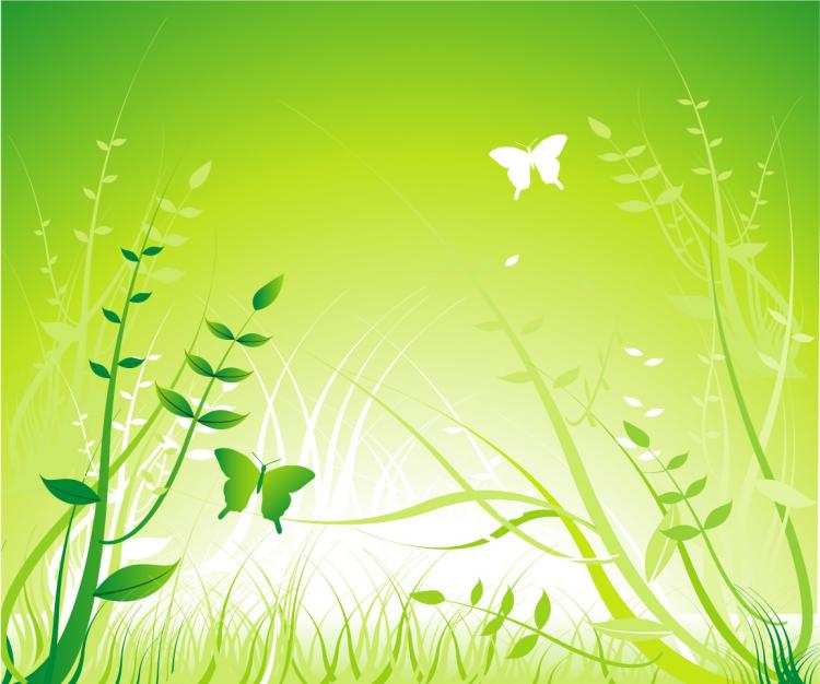 free vector Butterfly flower plant