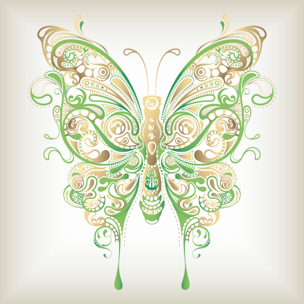 free vector Butterfly pattern 04 vector