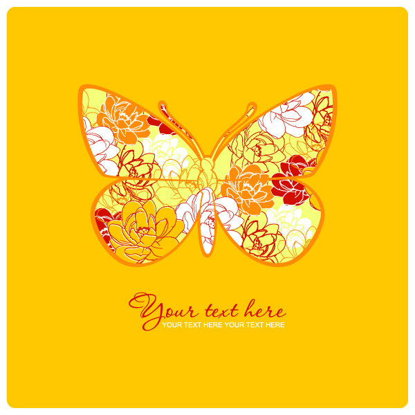 free vector Butterfly pattern 05 vector
