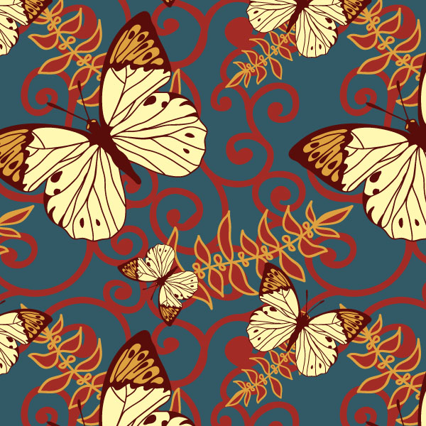 free vector Butterfly vector background