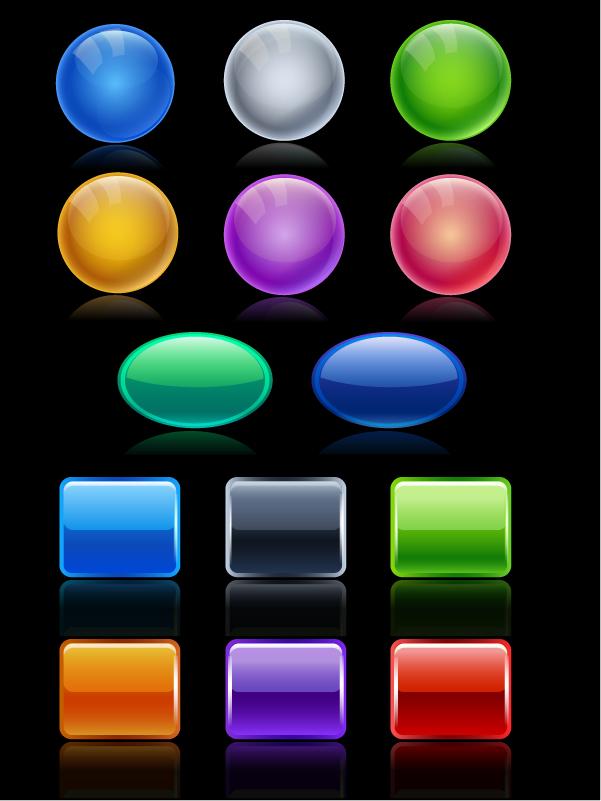 free vector Button colorful texture vector