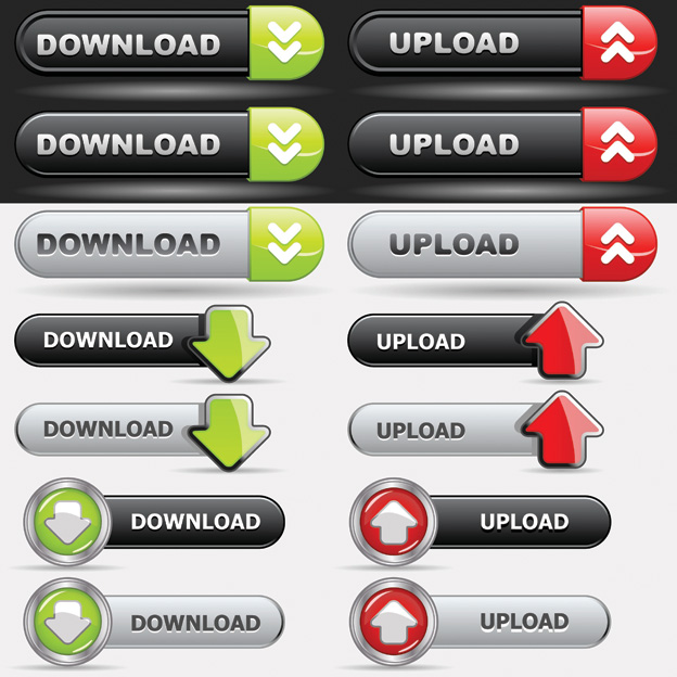 free vector Button on the navigation bar web design vector