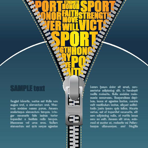 free vector Cable zipper vector 1