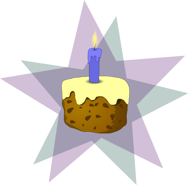 free vector Cake And Candle clip art