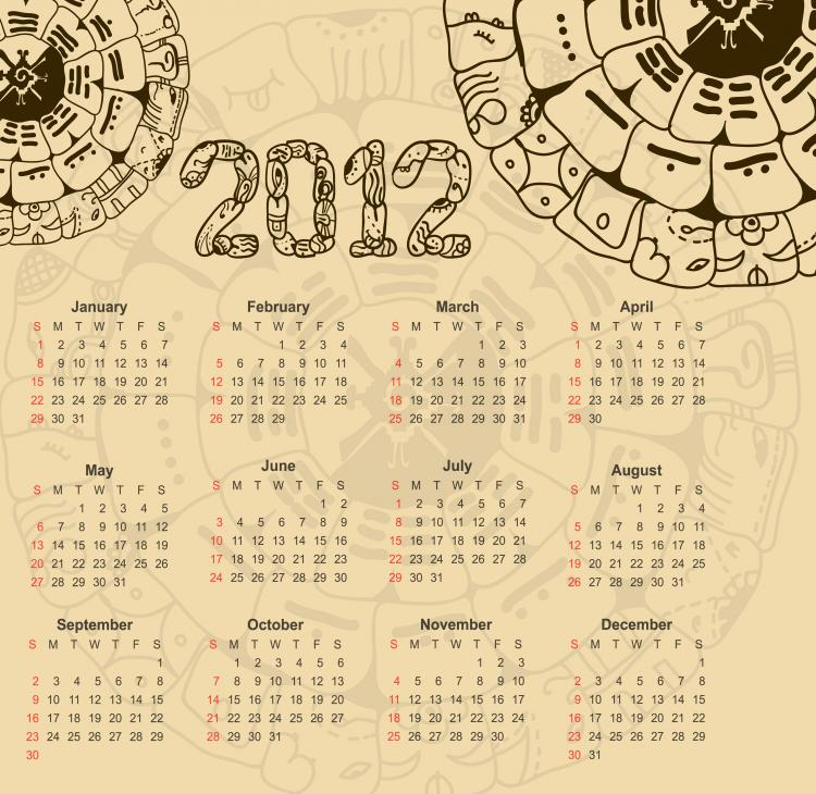 free vector Calendar 2012 illustrator 01 vector