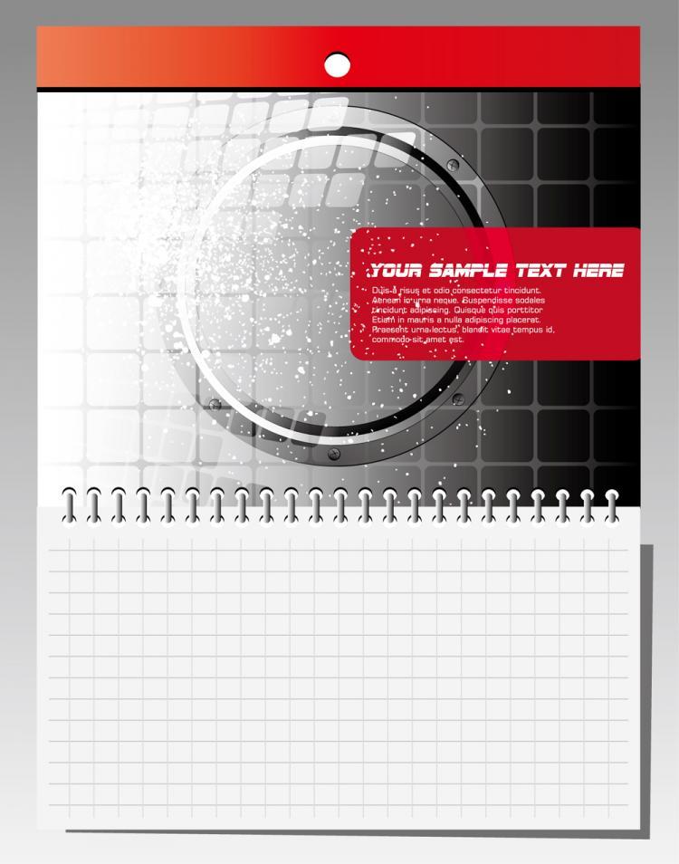 free vector Calendar calendar notepad 01 vector