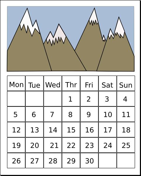 Clip Art Calendar Clipart Free calendar clip art free vector 4vector art