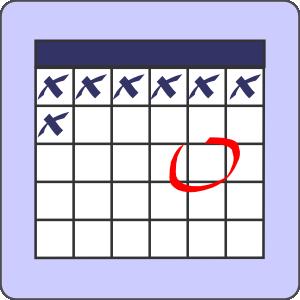 free vector Calendar With Note clip art