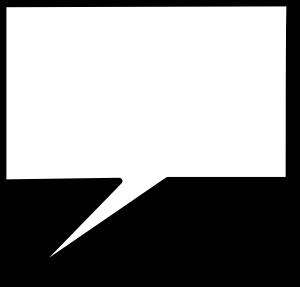 free vector Callout Square Cloud clip art