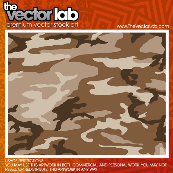 free vector Camouflage Vector Pattern