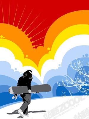 free vector Campaign ski material