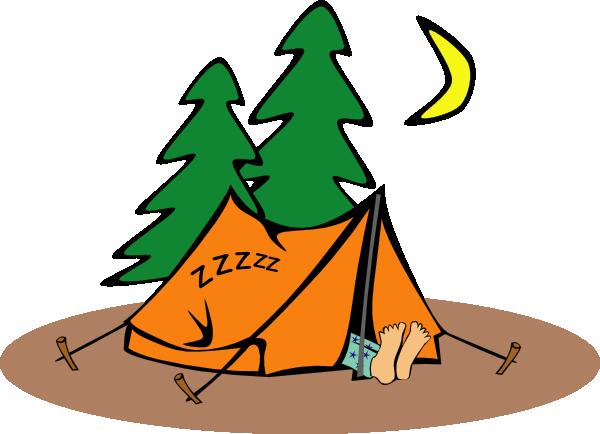 free vector Camper Sleeping clip art