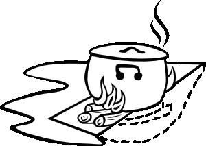 free vector Campfires And Cooking Cranes clip art