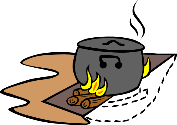 free vector Campfires And Cooking Cranes clip art