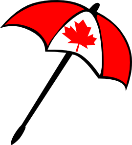 free vector Canada Flag Umbrella clip art