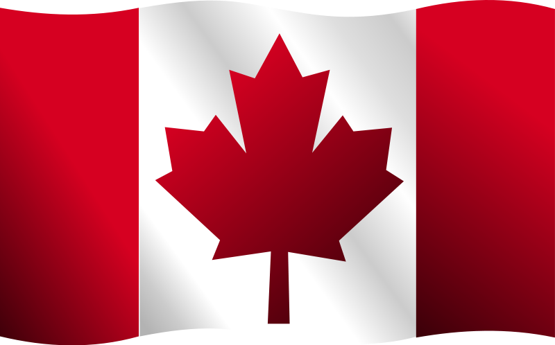 canadian flag free vector   4vector Texas Flag Waving Clip Art American Flag Waving Free Clip Art Black and White