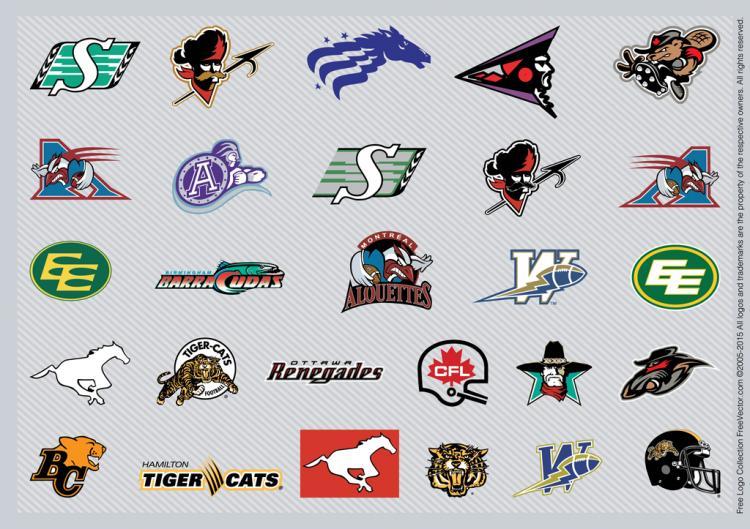 free vector Canadian Football Teams