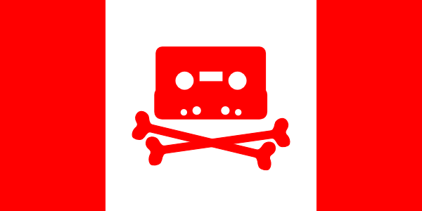 free vector Canadian Music Pirate Flag clip art
