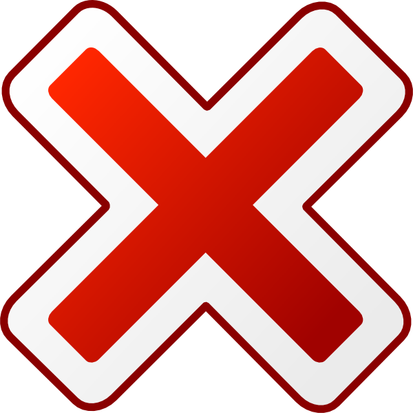 free vector Cancel Icon clip art