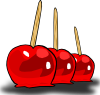 free vector Candied Apples clip art