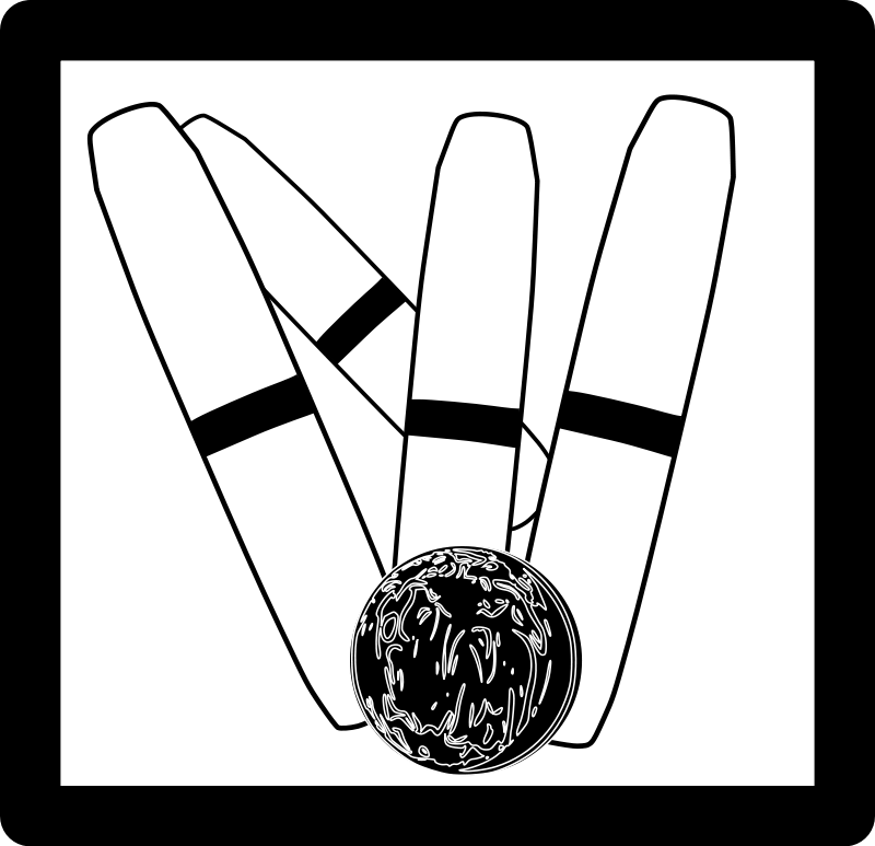 free vector Candlepin Bowling Icon