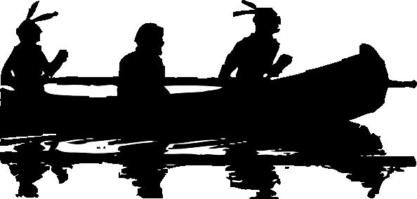 free vector Canoe Silhouette clip art