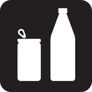 free vector Cans Or Bottles Black clip art